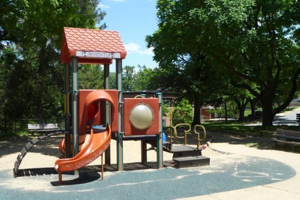 Playground at Lubber Run Community Center (photo via Preservation Arlington)