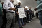 Cab drivers protest UberX in Courthouse