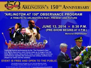 Arlington at 150 event poster