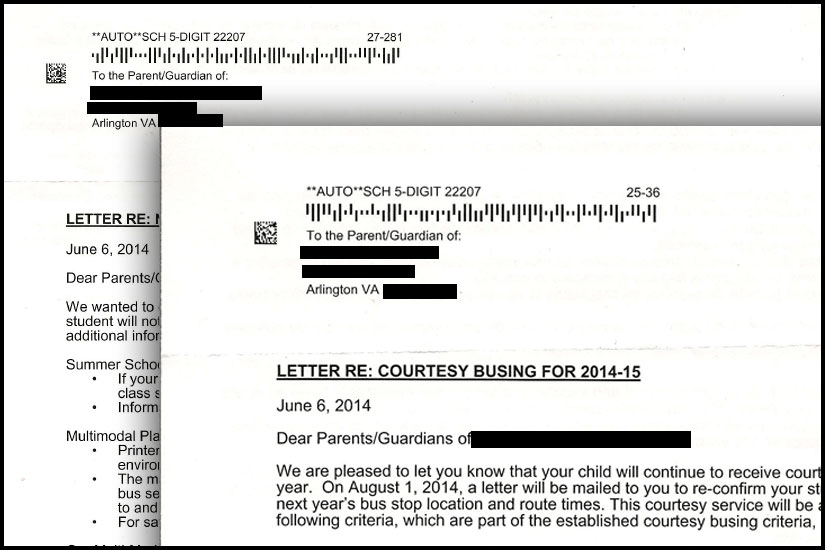 APS mixes up students' last names in bus letter   WTOP