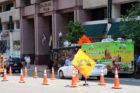 Food trucks on N. Lynn Street in  Rosslyn