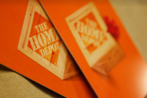 Home Depot gift cards (Flickr photo by Marie Coleman)
