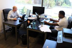 Ostendio co-founders Grant Elliot (left) and Jermaine Jones