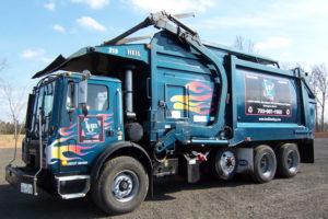 KMG Hauling waste truck