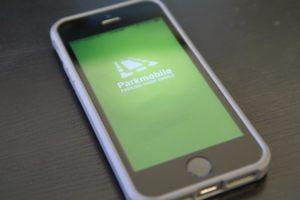 Parkmobile app on an iPhone