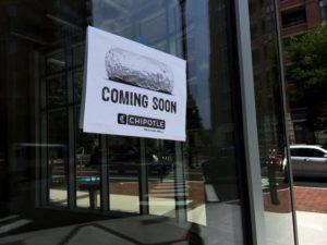 Fake Chipotle sign at 3001 Washington Blvd