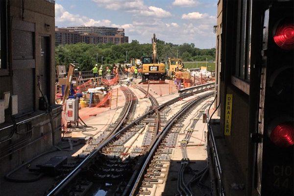 Weekend Metro track work near Crystal City