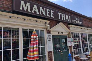 Manee Thai restaurant on Columbia Pike