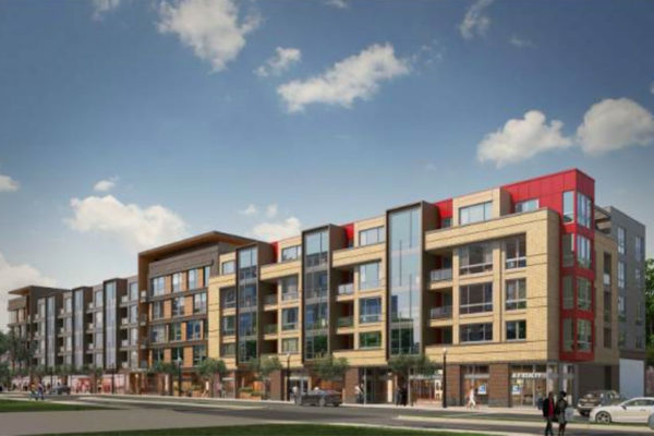 Rendering of the 10th Street Flats mixed-use development (image via Arlington County)