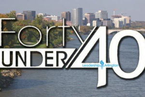 40 under 40 logo (photo via Leadership Arlington)