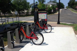 The new Capital Bikeshare station at Arlington Blvd and N. George Mason Drive (photo via Twitter)