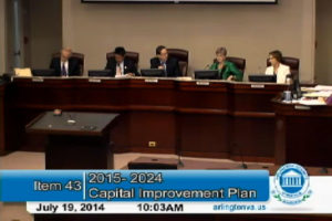 The County Board discusses the CIP 07/19/14