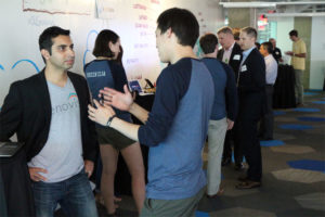 """Investors"" talk to entrepreneurs at ARLive Startup Smackdown, July 2014"