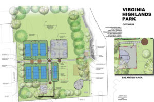 Virginia Highlands Park renovation rendering (Image via Arlington County)