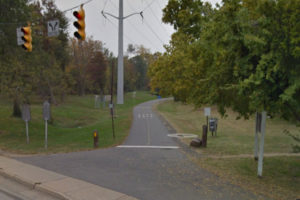 Site of the proposed bike park on the W&OD Trail (Photo via Google Maps)