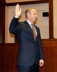 School Board member Noah Simon is sworn in in 2013 (photo via Facebook)