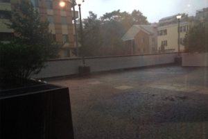 Heavy rain from storm in Arlington on 7/14/14
