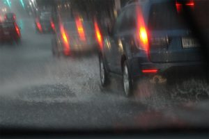 Columbia Pike is flooded by a downpour / heavy rain (file photo)