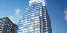 A rendering of CEB Tower (image via The JBG Companies)