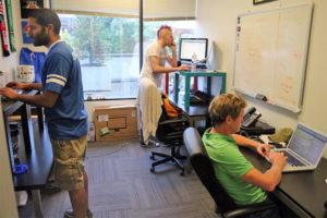 LeagueApps' workspace in UberOffices in Rosslyn