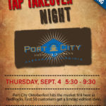 Port City Tap Takeover flyer