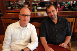 Sailminder co-founders Robert Cooper, left, and Hashem Fouad