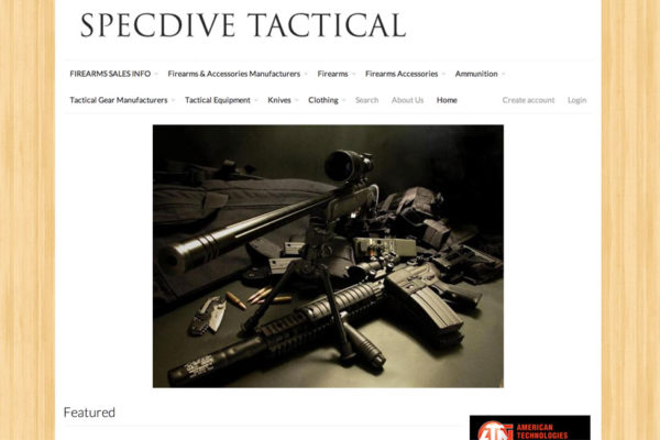 SpecDive Tactical's website