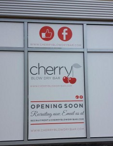 Future location of Cherry Blow Dry Bar in Clarendon (photo via @CommonCenser)