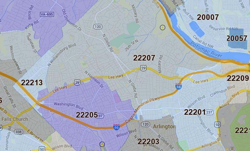 Three Arlington zip codes named area's wealthiest | WTOP on fairfax county region map, dc zip map, fairfax sc sc map, prince william co map, fairfax county district map, fairfax county water map, maryland zip codes by state map, fairfax county boundary map, fairfax city zip code, hampton city virginia map, fairfax county road map, prince george s county map, fairfax county weather, fairfax alaska map, fairfax county neighborhood map, fairfax county street map, fairfax county precinct map, alexandria va on us map, fairfax city map, fairfax county zoning map,
