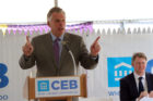 Gov. Terry McAuliffe at the CEB Tower groundbreaking in Rosslyn