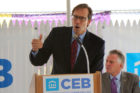 Arlington County Board chair Jay Fisette at the CEB Tower groundbreaking