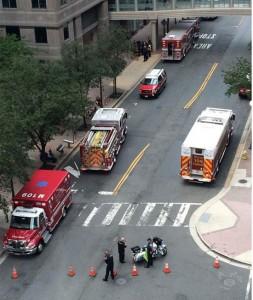 Hazmat teams respond to suspicious package in Ballston (photo via @Louis3E)