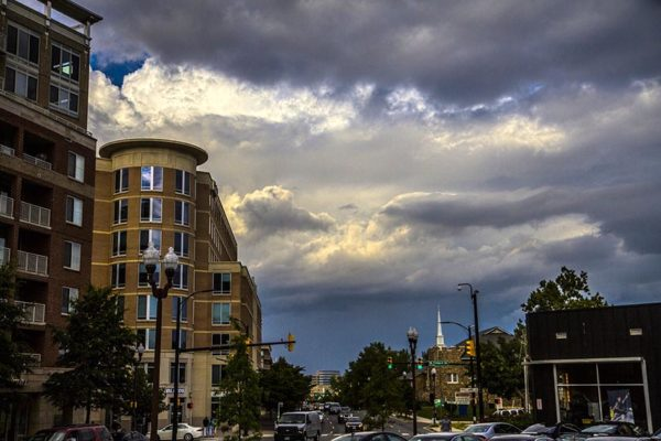 High-contrast clouds over Ballston (photo courtesy Erinn Shirley)