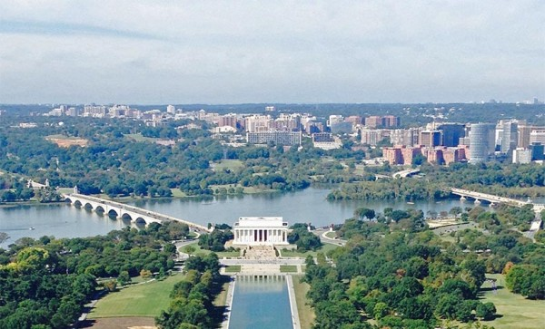 View of R-B corridor from the Washington Monument (courtesy photo)