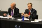 John Vihstadt and Alan Howze debate at the Arlington Civic federation on Sept. 2, 2014