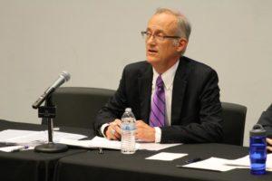John Vihstadt debates at the Arlington Civic federation on Sept. 2, 2014