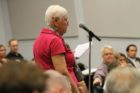 A delegate of the Arlington Civic Federation questions County Board candidates