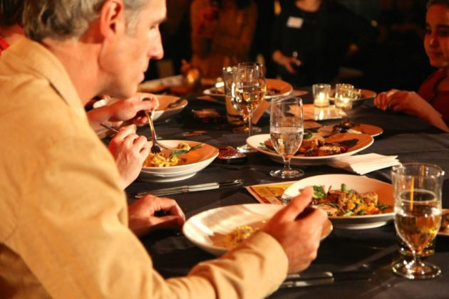 Judge and Arlington Magazine publisher Greg Hamilton sampled a dish.