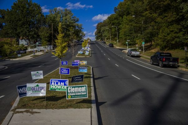 Roadside campaign signs (Flickr pool photo by Erinn Shirley)