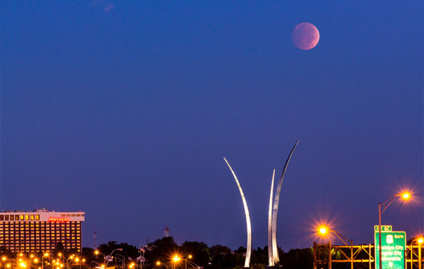 Blood moon Wednesday morning  (Flickr pool photo by Joseph Gruber)