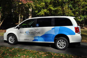 An All-Access Taxi cab (photo courtesy All-Access Taxi)