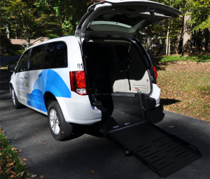 An All Access Taxi accessible cab (photo courtesy All Access Taxi)