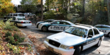 Police respond to reports of a break-in at 201 Chain Bridge Road