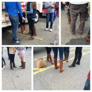 Tall brown boots spotted at a beer festival in Courthouse (photo courtesy @SeenInClarendon)