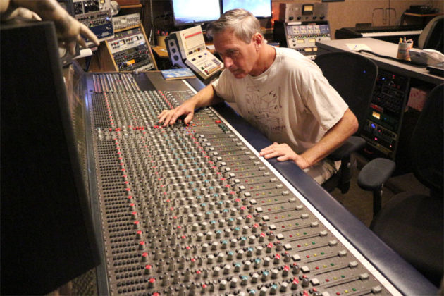 Inner Ear Studio owner Don Zientara at work at Inner Ear Studios