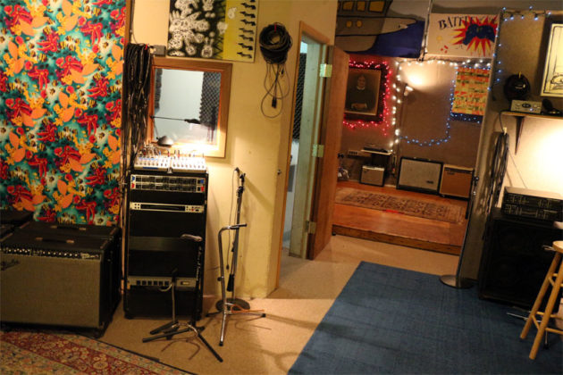 The recording space at Inner Ear Studio