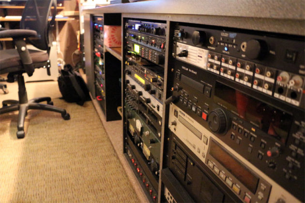 Recording equipment at Inner Ear Studio