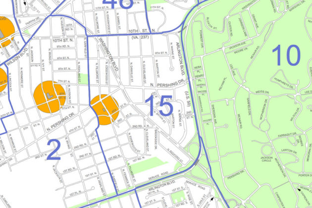 Voting precinct 15, Lyon Park, will vote at 925 N. Garfield Street next week