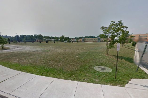 The location of an assault on a sixth-grade student in front of Kenmore Middle School (photo via Google Maps)
