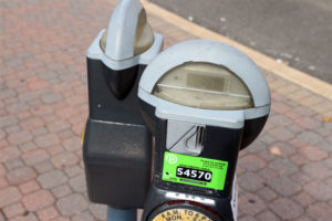 Parkmobile on coin-operated meters off Columbia Pike